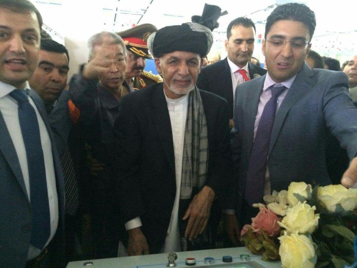 افتتاح فابریکه طلای سفید با دستان رییس جمهور غنی در هرات
