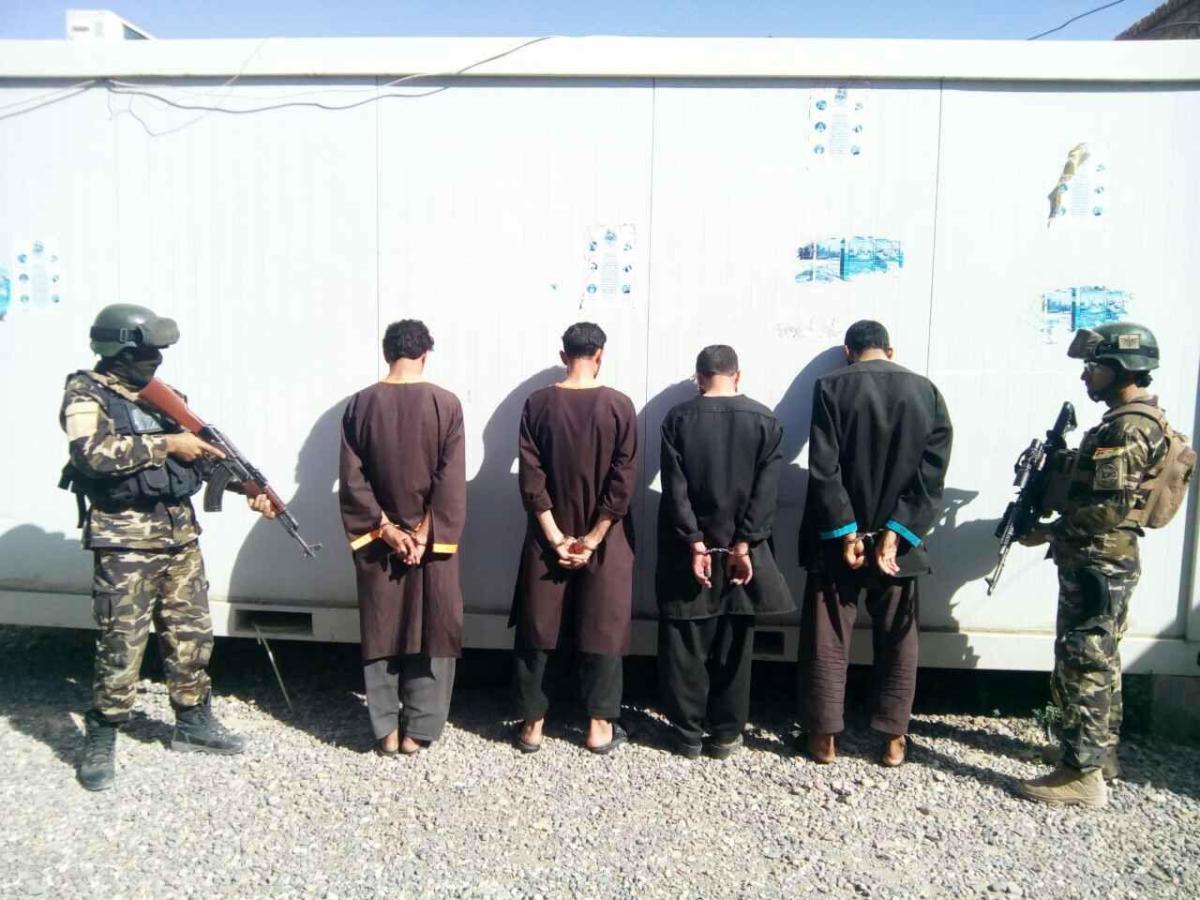 امنیت ملی هرات چهار اختطافگر قاتل را بازداشت کرد.